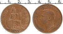 Изображение Монеты Великобритания 1 пенни 1945 Бронза XF Георг VI. Британния