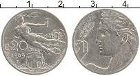 Изображение Монеты Италия 20 чентезимо 1909 Медно-никель XF Виктор Эммануил III