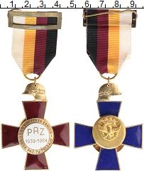Изображение Монеты Испания Медаль 1964 Бронза UNC- Крест в память 25-ле