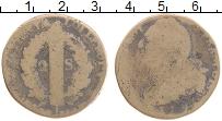 Изображение Монеты Франция 2 соля 1795 Медь VF Людовик XVI