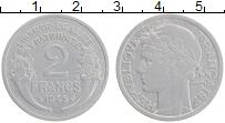 Изображение Монеты Франция 2 франка 1945 Алюминий XF