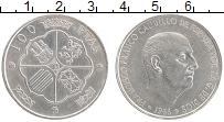 Изображение Монеты Испания 100 песет 1966 Серебро XF Франсиско Франко