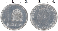 Изображение Монеты Испания 1 песета 1987 Алюминий UNC- Хуан Карлос I
