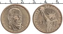 Изображение Монеты США 1 доллар 2009 Латунь UNC Джеймс Полк,Р