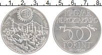 Изображение Монеты Венгрия 500 форинтов 1986 Серебро UNC 300-летие захвата Бу