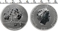 Изображение Монеты Ниуэ 2 доллара 2021 Серебро UNC Елизавета II. Персон