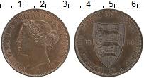 Изображение Монеты Остров Джерси 1/12 шиллинга 1888 Бронза UNC Виктория