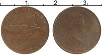 Изображение Монеты Остров Мэн 1/2 пенни 1976 Бронза XF Елизавета II.