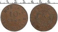 Изображение Монеты Франция 10 сантим 1814 Медь XF- Осада Антверпена. Лю