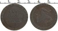 Изображение Монеты Остров Мэн 1/2 пенни 1831 Медь XF Токен. Трискелион
