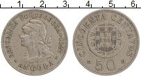 Изображение Монеты Ангола 50 сентаво 1927 Медно-никель XF-