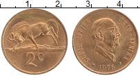 Изображение Монеты ЮАР 2 цента 1976 Бронза UNC Якобус Йоханнес Фуше