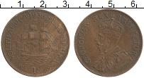 Изображение Монеты ЮАР 1 пенни 1936 Бронза XF Георг V.