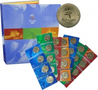 Изображение Подарочные монеты Австралия Олимпийские Игры 2000 Латунь UNC