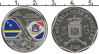 Изображение Мелочь Антильские острова 5 гульденов 2020 Медно-никель UNC 10 лет автономии Кюр