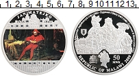 Изображение Монеты Малави 50 квач 2009 Серебро Proof Ян Матейко