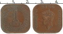Изображение Монеты Малайя 1 цент 1940 Бронза XF Георг VI