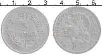 Изображение Монеты Франция 5 франков 1949 Алюминий XF