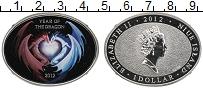 Изображение Монеты Ниуэ 1 доллар 2012 Серебро Proof Год Дракона