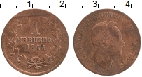 Изображение Монеты Баден 1 крейцер 1848 Медь VF Леопольд