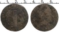 Изображение Монеты Франция 2 соля 1791 Медь VF Людовик XVI