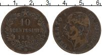 Изображение Монеты Италия 10 чентезимо 1893 Бронза XF- Умберто I (IB)