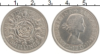 Изображение Монеты Великобритания 2 шиллинга 1965 Медно-никель UNC- Елизавета II.