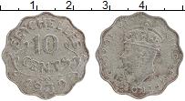 Изображение Монеты Сейшелы 10 центов 1939 Медно-никель XF Георг VI