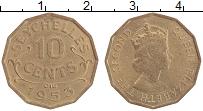 Изображение Монеты Сейшелы 10 центов 1953 Латунь UNC- Елизавета II.