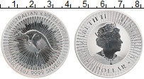 Изображение Монеты Австралия 1 доллар 2021 Серебро UNC Кенгуру