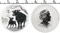 Изображение Монеты Австралия 50 центов 2021 Серебро Proof Год Быка