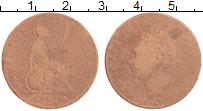 Изображение Монеты Великобритания 1/2 пенни 1827 Медь VF Георг IV