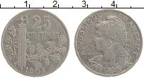 Изображение Монеты Франция 25 сантим 1904 Медно-никель XF