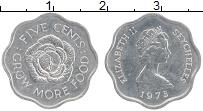 Изображение Монеты Сейшелы 5 центов 1975 Алюминий UNC- Елизавета II. ФАО