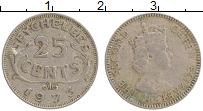 Изображение Монеты Сейшелы 25 центов 1973 Медно-никель XF Елизавета II.
