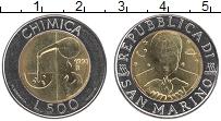 Изображение Монеты Сан-Марино 500 лир 1998 Биметалл UNC- Химия