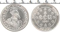 Изображение Монеты Бельгия 5 экю 1987 Серебро UNC- UNUSUAL. 30 лет Римс