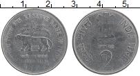 Изображение Монеты Индия 2 рупии 2010 Медно-никель  75 лет Резервному ба