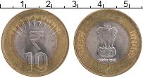 Изображение Монеты Индия 10 рупий 2011 Биметалл