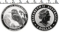 Изображение Монеты Австралия 1 доллар 2019 Серебро  Елизавета II. Кукаба