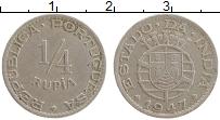 Продать Монеты Индия Португальская 1/4 рупии 1947 Медно-никель