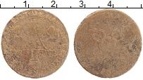 Изображение Монеты Франция 6 денье 1711 Медь VF Людовик XIII