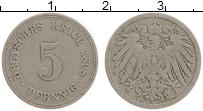 Изображение Монеты Германия 5 пфеннигов 1898 Медно-никель XF A