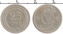 Изображение Монеты Швеция 25 эре 1947 Медно-никель XF Густав V