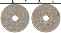 Изображение Монеты Бельгия 10 сантим 1904 Медно-никель XF- Альберт