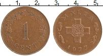 Изображение Монеты Мальта 1 цент 1977 Бронза XF