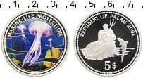 Изображение Монеты Палау 5 долларов 2001 Серебро Proof Защита морской жизни