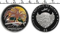 Изображение Монеты Палау 5 долларов 2009 Серебро Proof Райская птица.