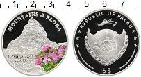 Изображение Монеты Палау 5 долларов 2009 Серебро Proof Горы и флора. Маттер