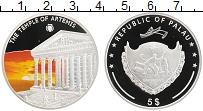 Изображение Монеты Палау 5 долларов 2009 Серебро Proof Храм Артемиды цветна